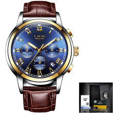 Мужские часы 2020 LIGE Топ бренд класса люкс зеленый Модный хронограф мужские спортивные водонепроницаемые кварцевые часы из стали Relogio Masculino(Китай)