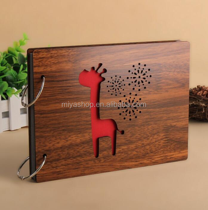 8 inch Wood DIY loose-leaf Albums / pasted photo album / couple baby family growth photo album
