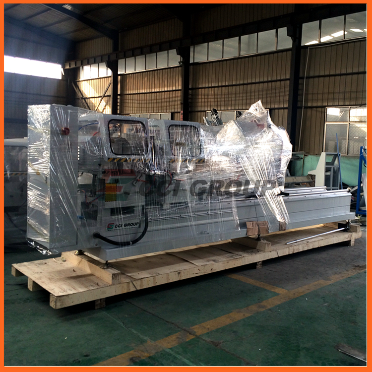 LJZ2-CNC-500X4200 aluminium door and window cnc double head mitre saw cutting and making machine