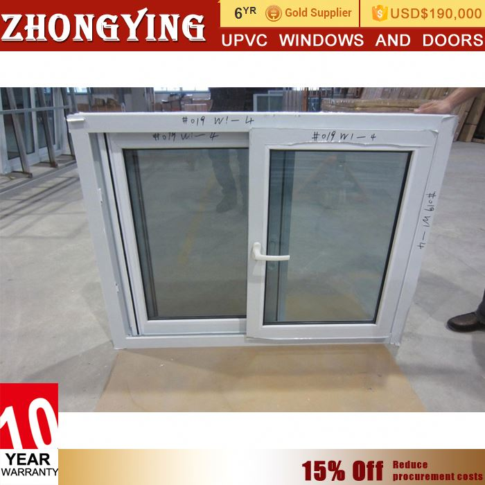 Low Price Wholesale White China Mosquito Net Pvc Profile Sliding Windows Pvc Window