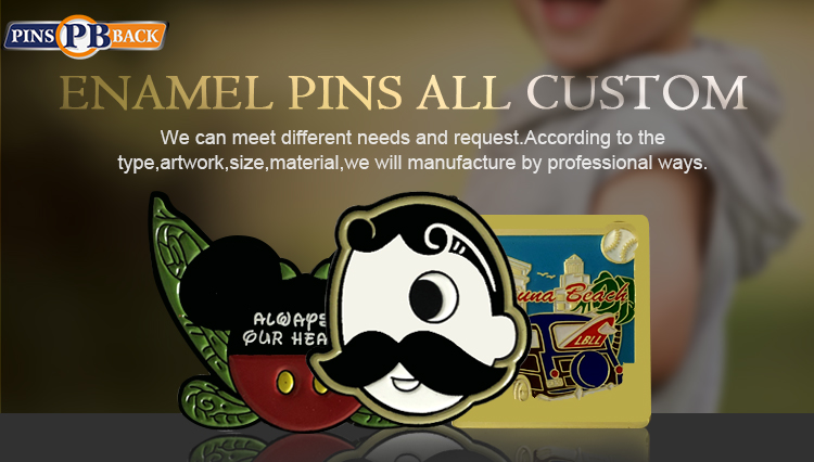 Custom hard enamel pin high quality metal lapel pin with butterfly clutch and backing card lapel badges factory price