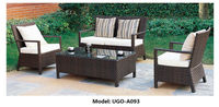 UGO-A093 cheap living room sectional rattan sofas set