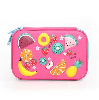 pencil case box, cosmetic makeup bag, printed with fruit