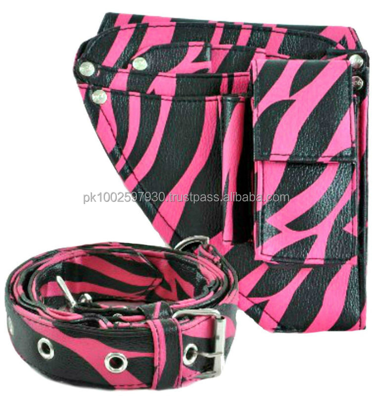 Hairdressing Tools Bag Holster/ Pouch.Pink Zebra / hairdressing scissor pouches holsters