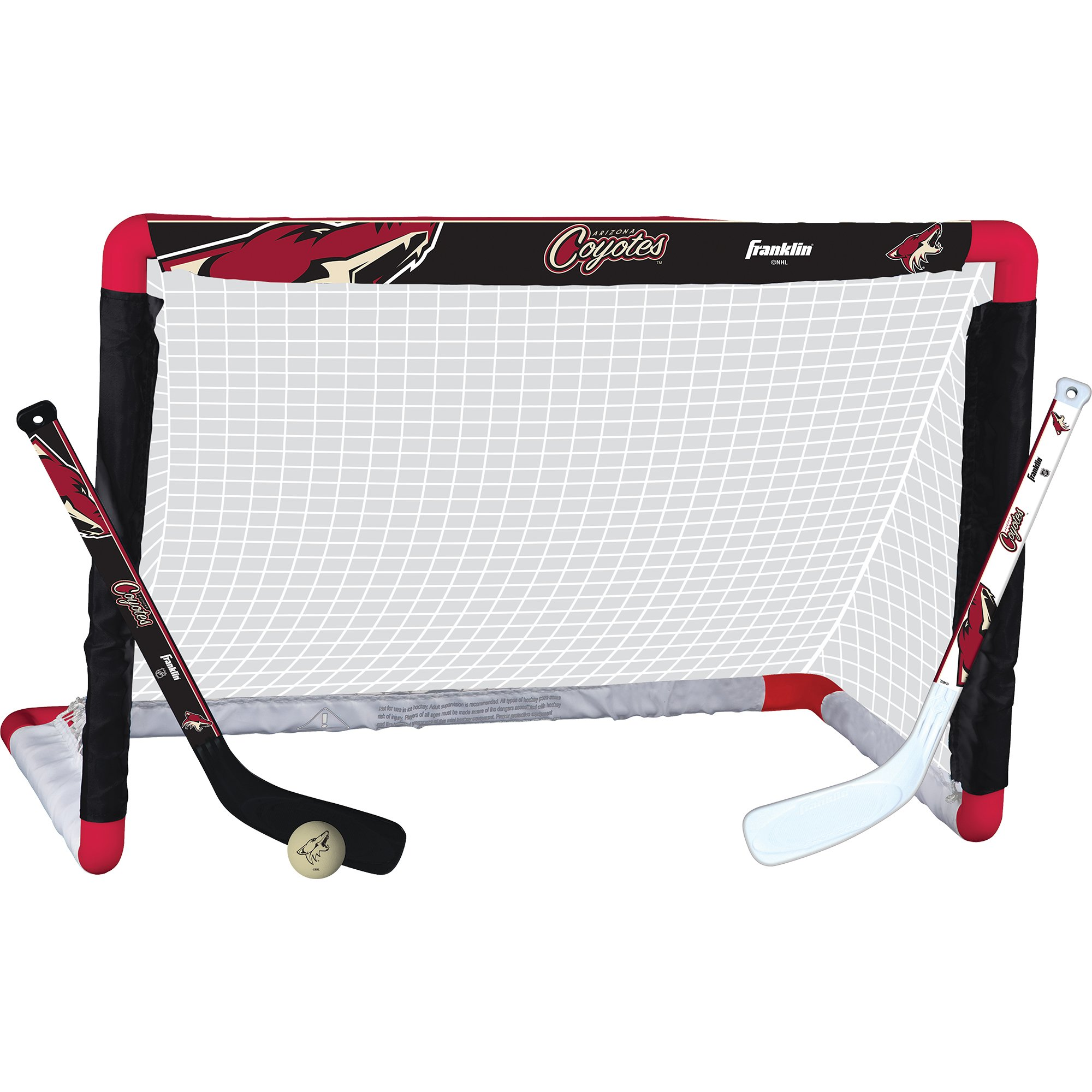 Get Quotations · Franklin Sports NHL Team Licensed Knee Hockey Set -  Includes 2 Mini Hockey Sticks and One 152a636f2