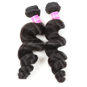 Premium Quality Virgin Brazilian Loose Wave Hair 2Pcs Lot 7A Grade Brazilian Virgin Mink Brazilian Human Hair Extensions