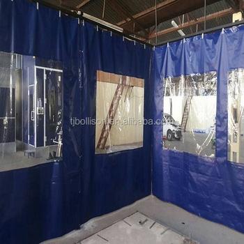 Pvc Vinyl Industriële Side Gordijnen Voor Magazijn/werkplaats ...