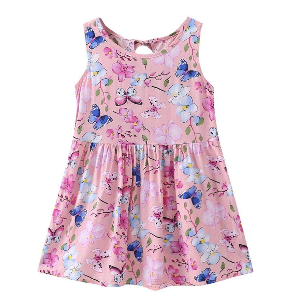 Elevin(TM) Toddle Tutu Skirt Kid Baby Girl Sleeveless Flora Summer Dresses Sunsuit 0-6T