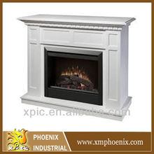 Modern white fire surround/fireplace mantel pieces(without fireplace insert)