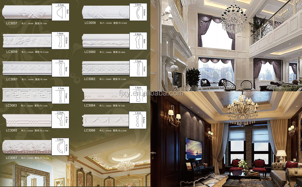 Pu Carved Flat Line Panel Mouldings,Polyurethane Foam,Exterior ...