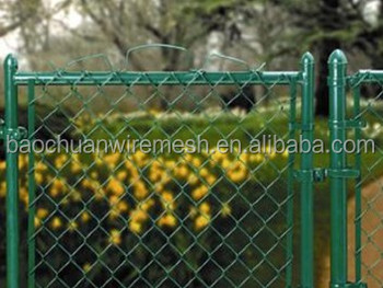 11 gauge high quality residencial color chain link fence