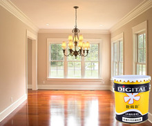Liquid waterbased anti-scrath interior wall coating latex paint
