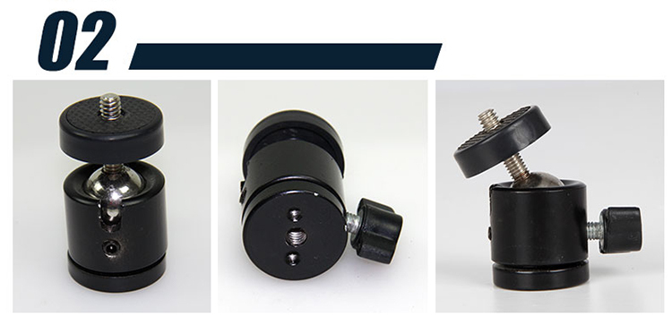 360 Degree photography 1/4'' hot shoe mount adapter all-metal mini ball head for tripod ball head