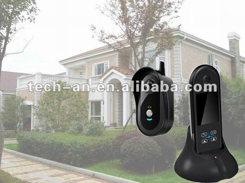 2.4G remote control door alarm with photo taken tech from manufacturer