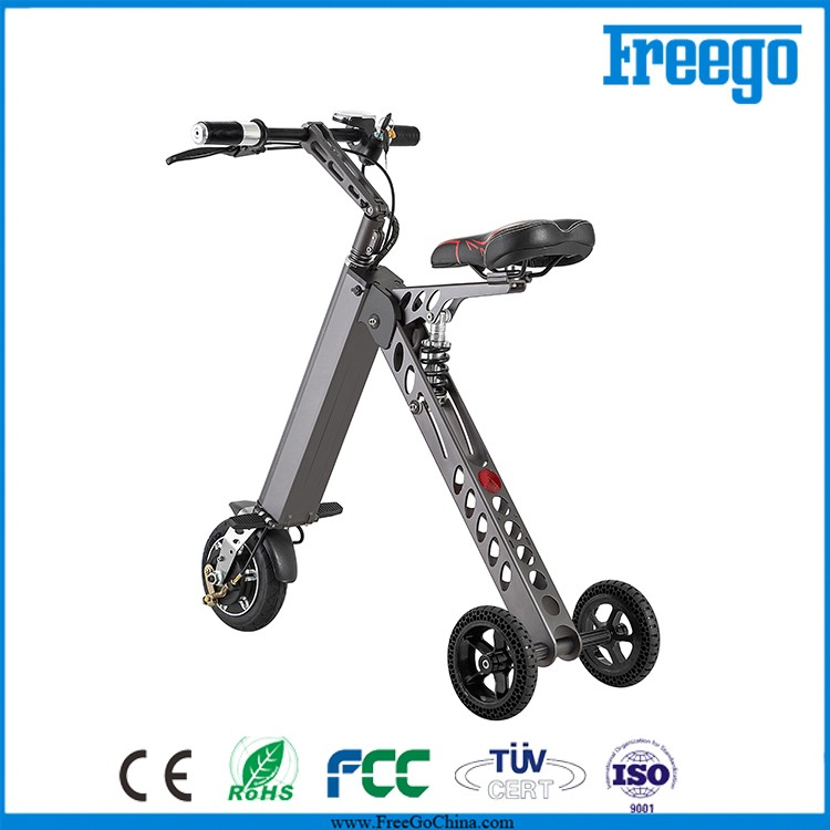 Adult 3 Wheel Electric Scooter Freego New Folding E Bike