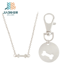 zinc alloy metal dogtag silver color dog name tag