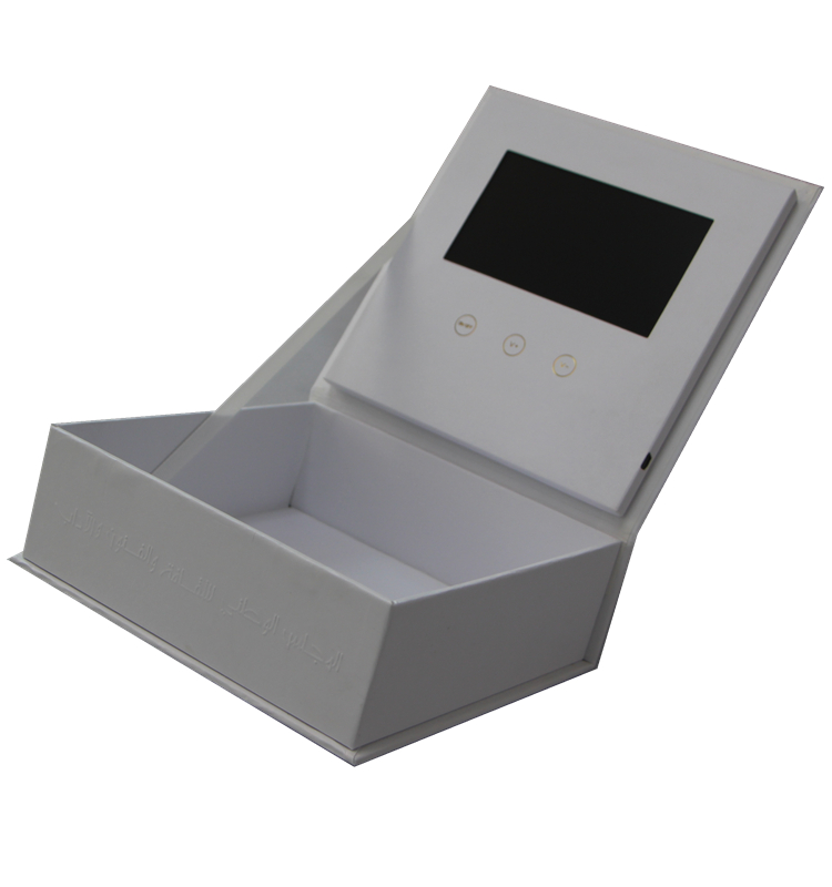 Presentation Marketing Greeting Gift Flower Jewelry Ring Lcd Screen Video Brochure Box
