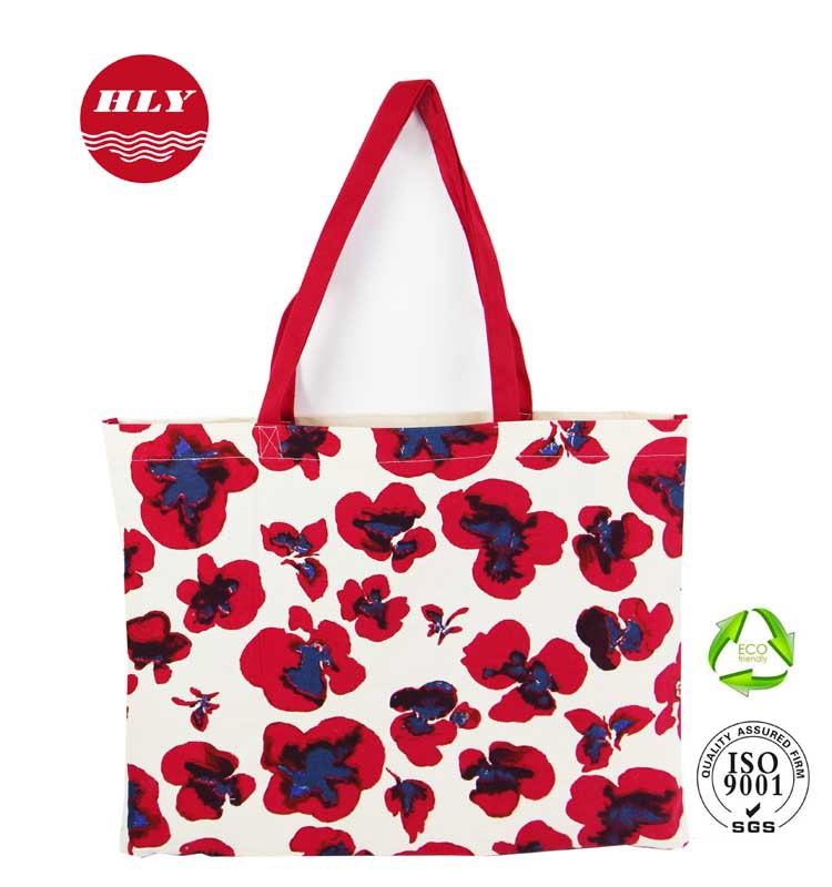 100% Cotton Flower Full Printed Women's Eco Bag Divisoria
