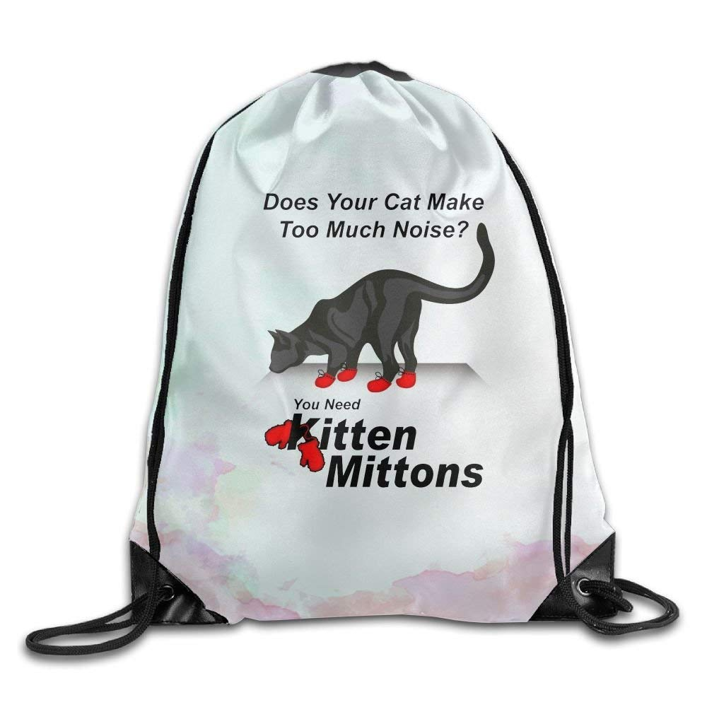 Kitten Mittons Funny TV Belt Sports Backpack,Fashion Trend, Polyester Sports Bag,Net Red Part,Men's Handbag,Ladies,Teenager,Adult,Outdoor Work,Office,Lunch Box