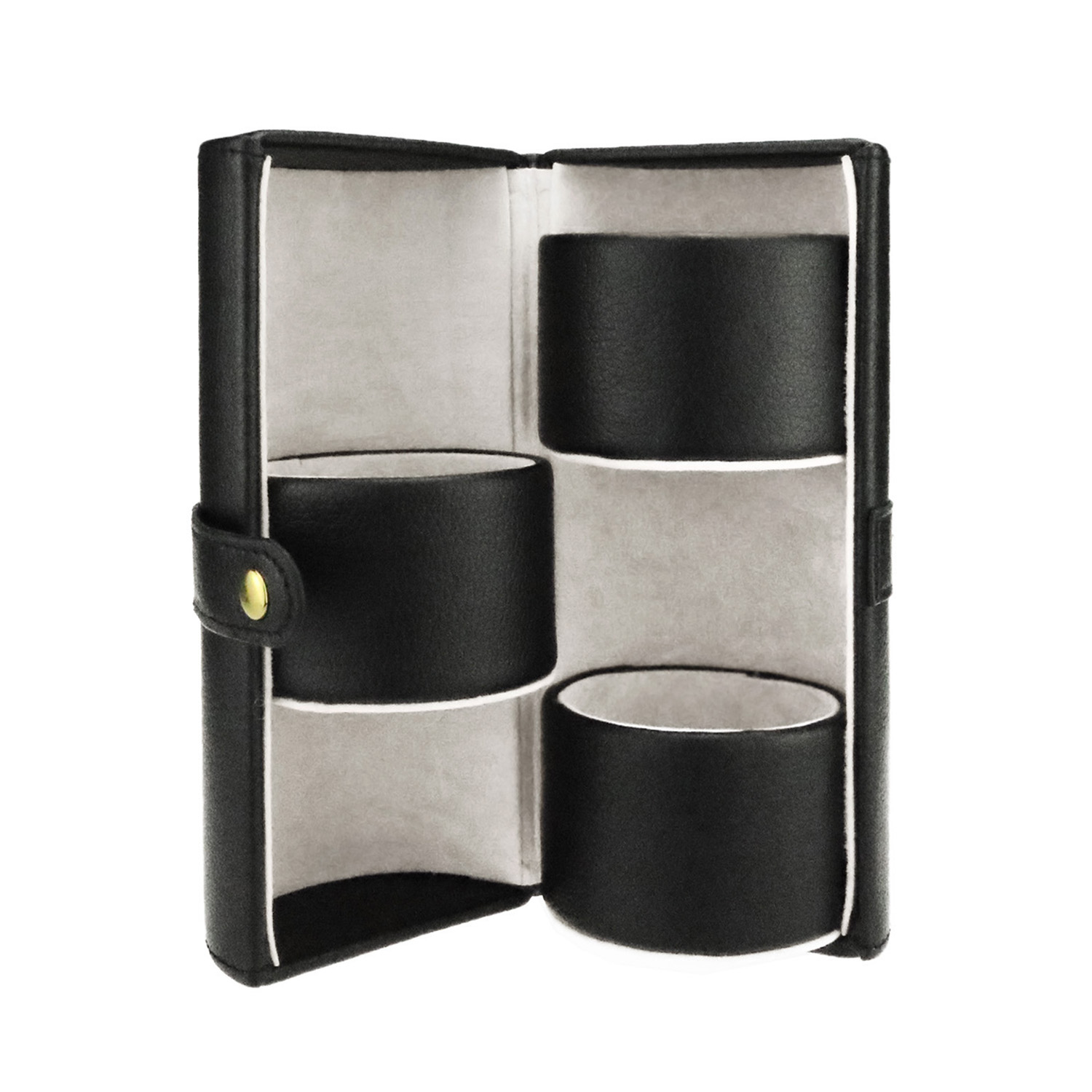 Wholesale  Jewelry Ring Case Cylinder  Leather Jewellery Travel Organizer