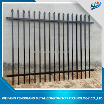 China Supplier Australian Standard Pressed Spear Top Security Wrought Iron Steel Picket Fence For Usa Au