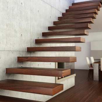 Delicieux Modern Red Oak Tread Stairs Floating Cantilevered Staircase   Buy Build  Floating Staircase,Cantilevered Staircase,Elegant Solid Wooden Stairs ...