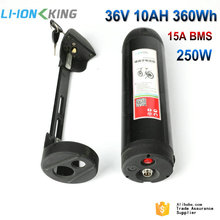 Free Shipping Electric Bike Li ion 36V 10Ah Bottle Downtube Battery with 42V 2A Charger