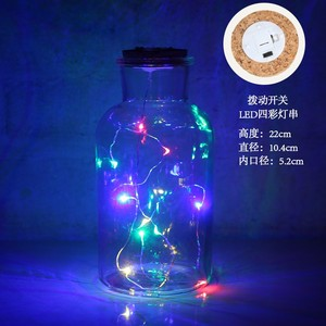 Christmas gift LED Light Insert Mercury Glass Bottle votive