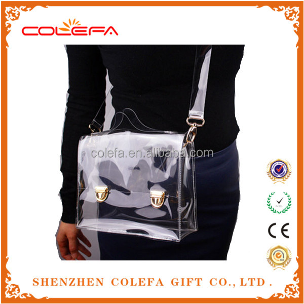 2017 Clear Plastic Detachable Strap Crossbody Shoulder Bag