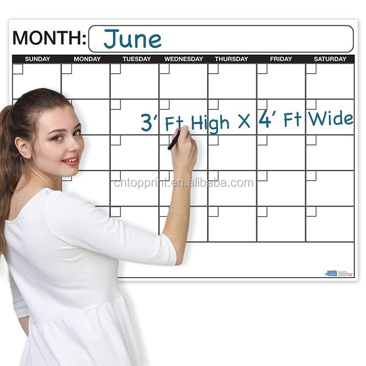 2018 Personalized Dry Erase Calendar