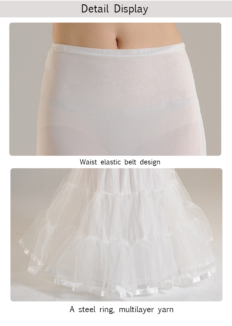 P6114A Hot sale Fashion Long Hoop Crinoline Mermaid Bridal Petticoat