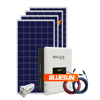 Bluesun best price hybrid 5kw solar system solar electric storage for home
