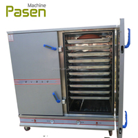 electric or gas 24 trays rice steaming machine with digital controller / ark steam food machine / rice steamer for restaurant