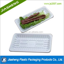 Eco-friendly white PET plastic fresh meat frozen food tray packaging