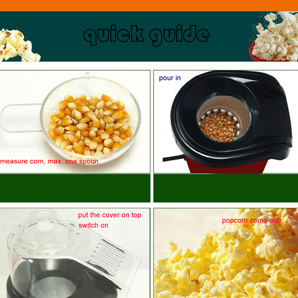 B160354 Presto Hot Air Popper Popcorn Maker Kitchen Healthy Gourmet Pop Corn