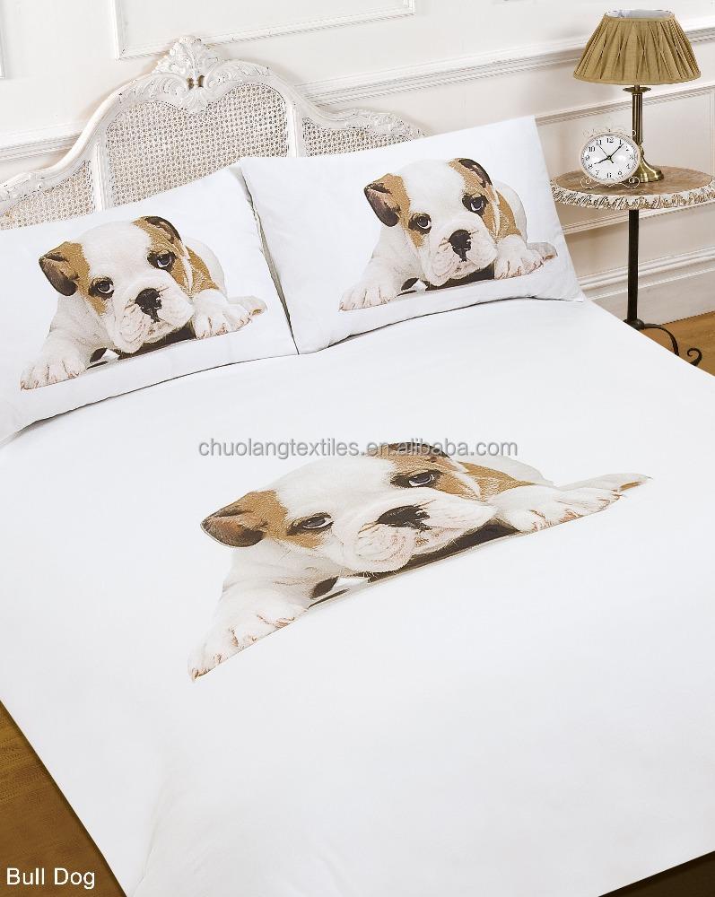 microfibre num rique imprim chien et chat personnalis 3d ensemble de literie housse de couette. Black Bedroom Furniture Sets. Home Design Ideas
