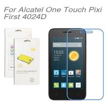 For Alcatel one touch Pixi First 4024D,3pcs/lot High Clear LCD Screen Protector Film Screen Protective Film For 4024D