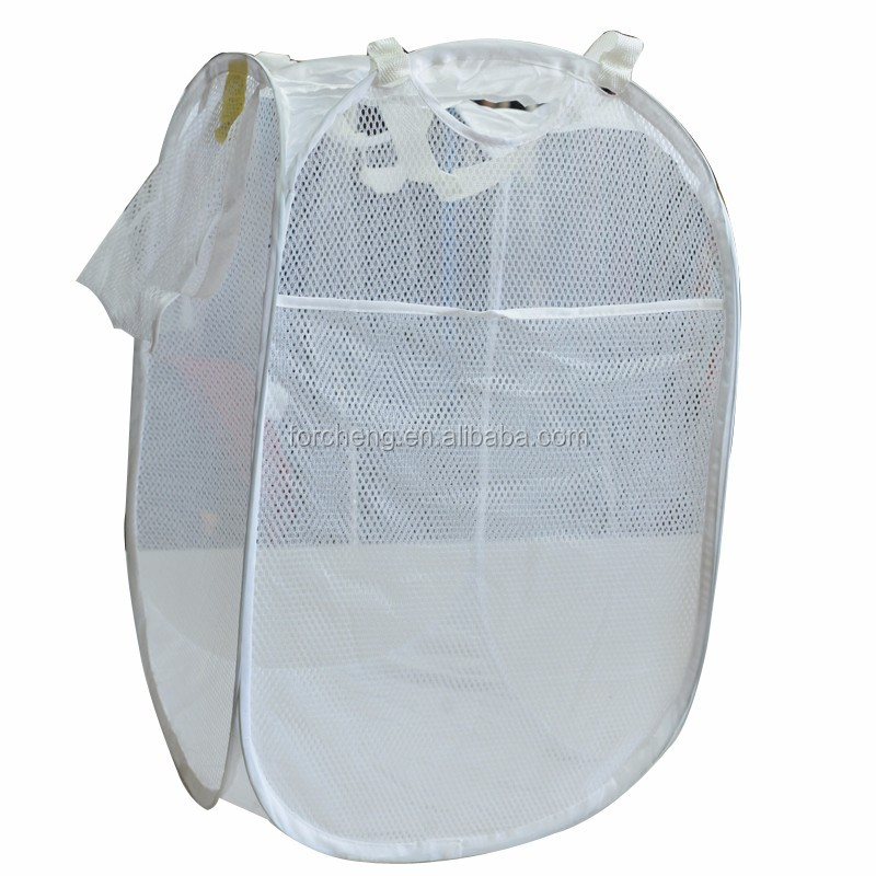 Eco polyester colorful folding pop-up hamper