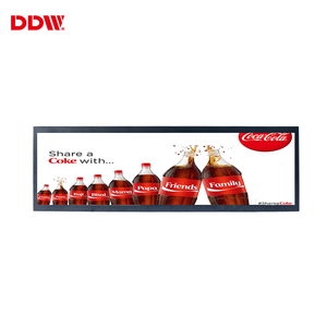 Oem great quality Normally Black floor ad Stretched small electronic lcd commercial advertising display screen for ad branding