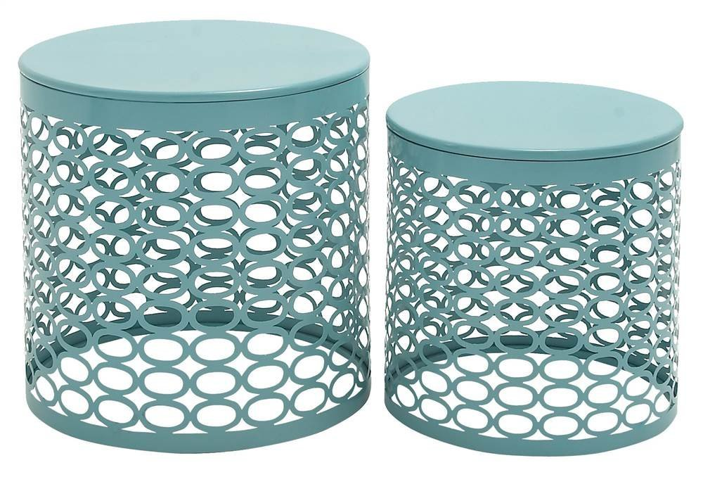 Get Quotations · 2 Pc Metal Accent Table Set