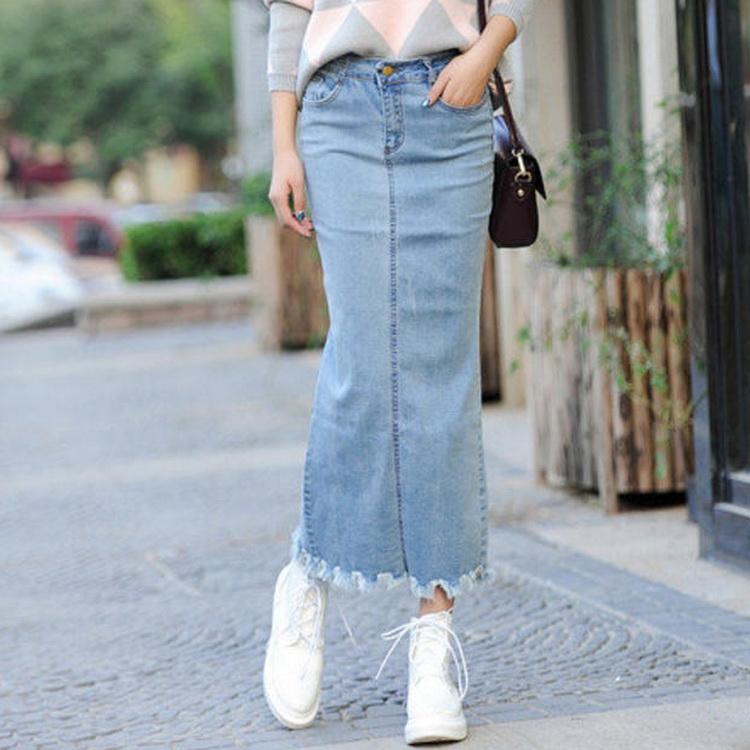 Wholesale Long Denim Skirts, Wholesale Long Denim Skirts Suppliers ...