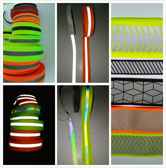 5cm width fluorescent yellow warning reflective tape warning ribbon reflector