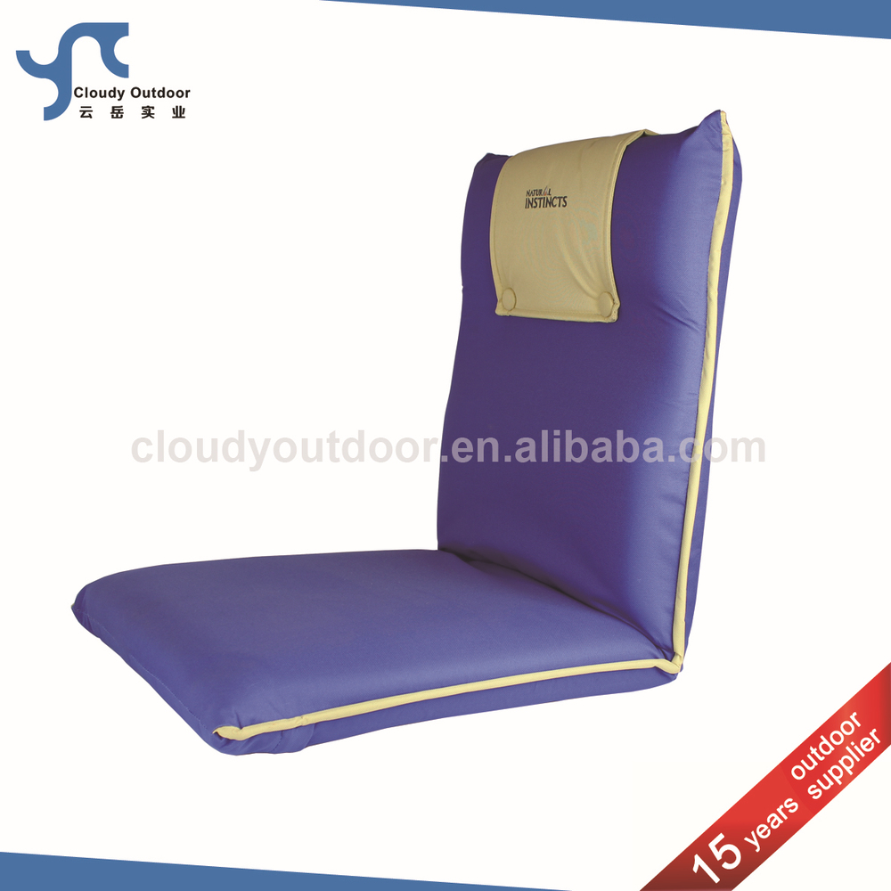 Backrest Adjustable Padded Folding Portable Ground Chair