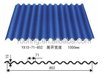22 gauge cold rolled corrugated steel cheap trapezoid metal roofing sheet