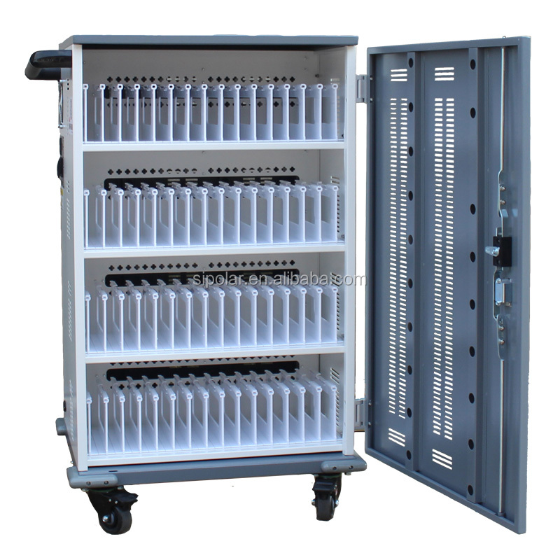Ipad/Tablet/laptop 44 device charging cart charging cabinet made in ShenZhen