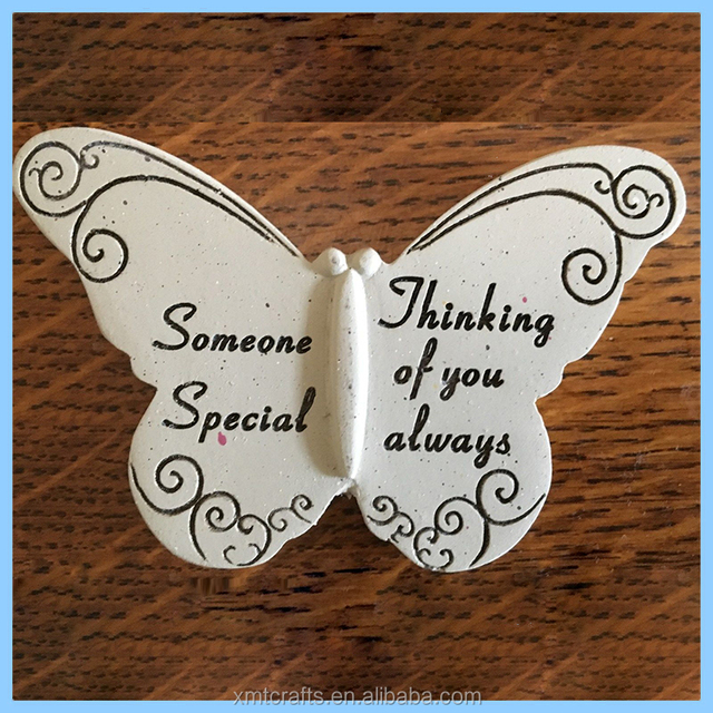 Butterfly Memorial Garden Stake Resin Ornament Outdoor Decoration