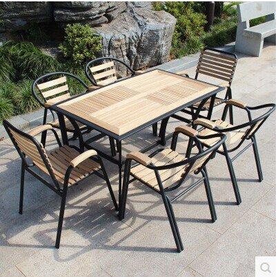 table de jardin en fer forg et bois table de lit. Black Bedroom Furniture Sets. Home Design Ideas
