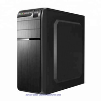 Newest JNP-C07-701Full tower black computer pc case with high-end Draw bench handcraft Panel