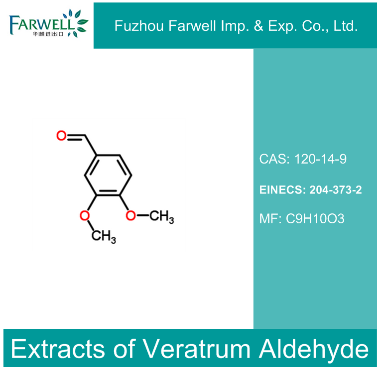 Farwell Extracts of Veratrum Aldehyde, High Quality Veratraldehyde/ 4-o-methylvanillin