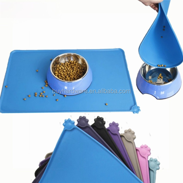 Water proof silicone pet dog food mat, anti-slip